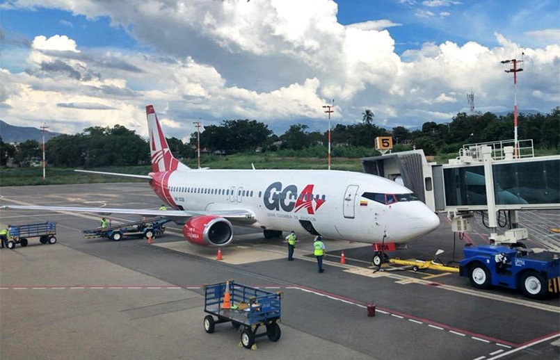 Boeing 737-400 de GCA Airlines en su vuelo inaugural entre Cali y Cúcuta.