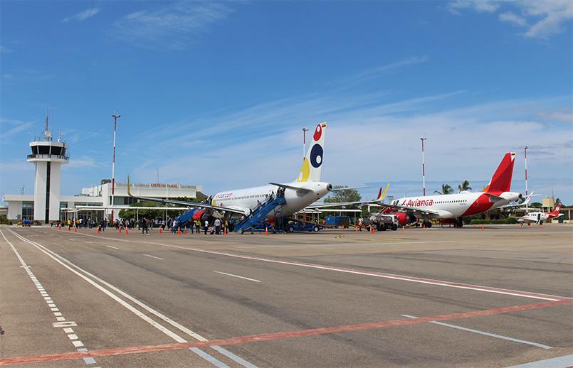 Aeropuerto Almirante Padilla de Valledupar.
