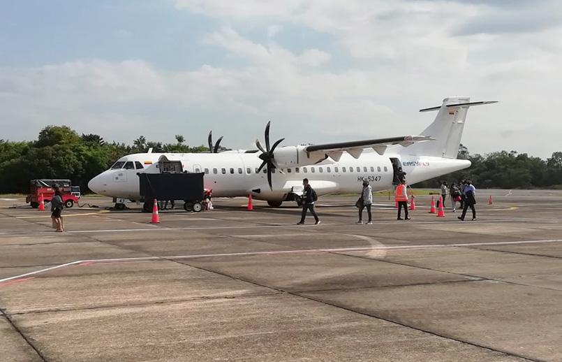 ATR 72-600 de EasyFly en el aeropuerto Yariguíes de Barrancabermeja.