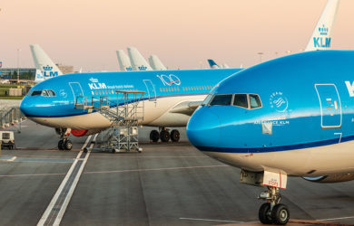 Flota de KLM en Ámsterdam.