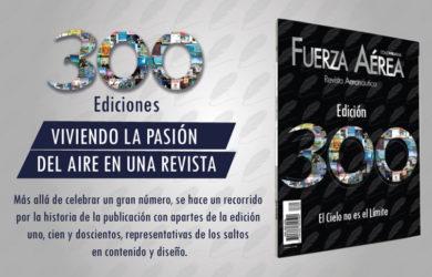 Edición No. 300 de la Revista Aeronáutica.