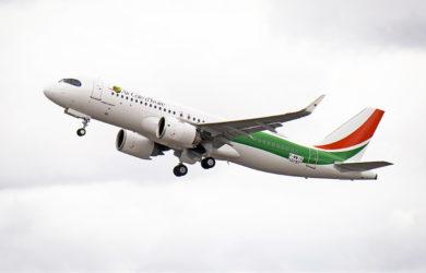 Primer Airbus A320neo de Air Côte d'Ivoire.