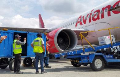 Transporte de vacunas para Covid-19 de Avianca.