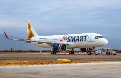 Airbus A320neo de JetSmart entregado con biocombustible.