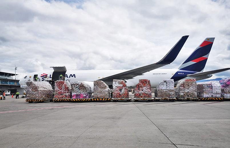 Transporte de flores por San Valentín 2021 de LATAM Cargo.