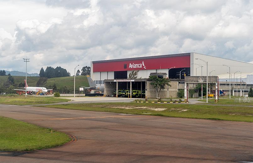 Centro de Mantenimiento (MRO) de Avianca en Rionegro.