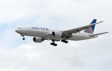 Boeing 777-200 de United Airlines.