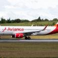 Airbus A320 de Avianca en el aeropuerto José María Córdova de Rionegro.