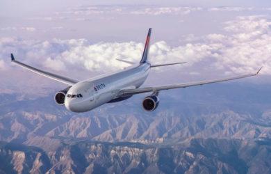 Airbus A330 de Delta Air Lines en vuelo.