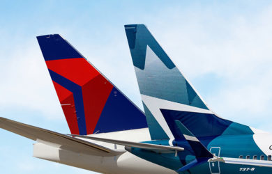 Alianza entre Delta y WestJet.