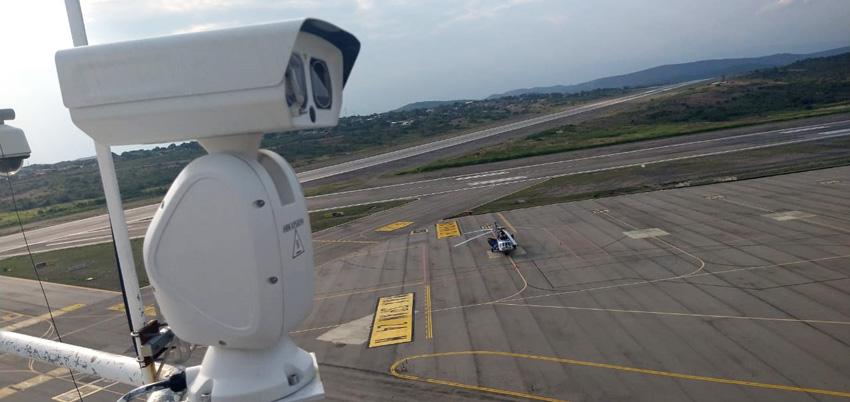 Cámara de la torre de control remota del aeropuerto Camilo Daza de Cúcuta.
