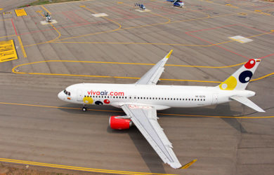 Airbus A320 de Viva Air en Cúcuta.