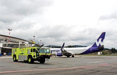 Boeing 737-800 de Wingo en Medellín.