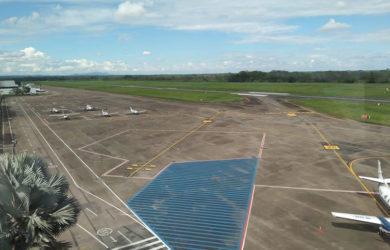 Plataforma del aeropuerto Vanguardia de Villavicencio.