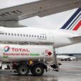 Airbus A350 de Air France en vuelo con combustible sostenible.