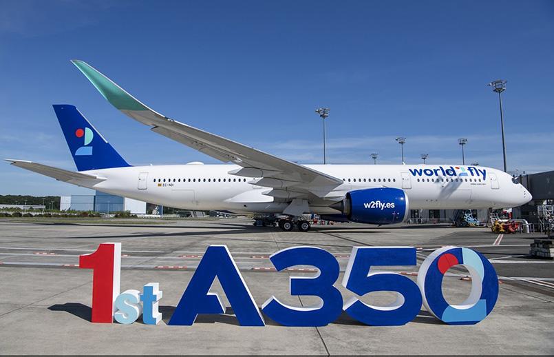Primer Airbus A350 de World2fly.