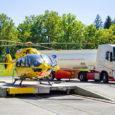 H145 de Airbus volando con combustible de aviación sostenible.