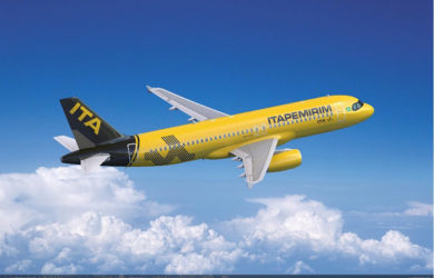 Render de un Airbus A320 de Itapemirim.