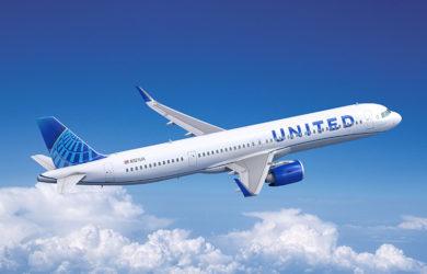 Airbus A321 de United Airlines.