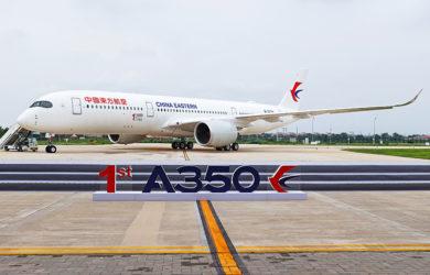 Primer Airbus A350 fabricado en Tianjin, China.