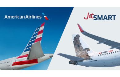 American Airlines y JetSmart firman acuerdo de código compartido.