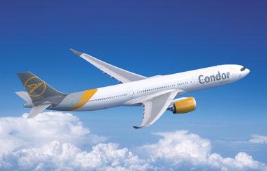 Render de un Airbus A330neo de Condor.