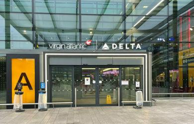 Terminal de Delta y Virgin en el aeropuerto Heathrow de Londres.