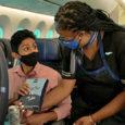 Servicio a bordo de United Airlines.