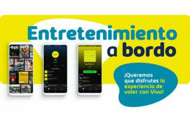 Entretenimiento a bordo de Viva Air.