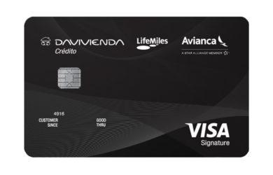Tarjeta de crédito Davivienda Visa Lifemiles.