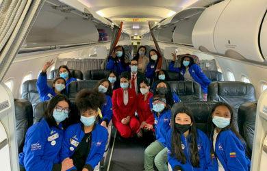 Tripulación de niñas Colombianas a la NASA.