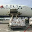 Transporte de carga en un Airbus A350 de Delta Air Lines.