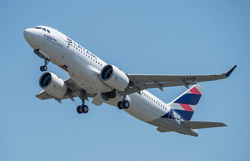 Airbus A320neo de LATAM Airlines.