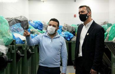 Transformación de residuos plásticos del aeropuerto Eldorado.