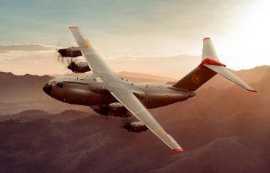 Prototipo de un Airbus A400 de Kazajistán.