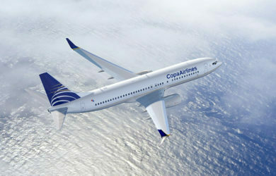 Boeing 737-800 de Copa Airlines en vuelo.