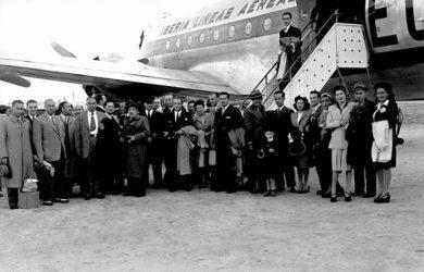 Primera ruta de Iberia a América Latina.