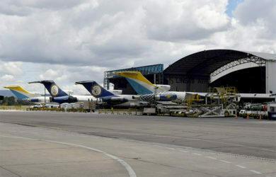 Flota de LAS Cargo en Bogotá.