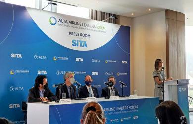 Rueda de prensa del lanzamiento del ALTA Leaders Forum 2021 en Bogotá.