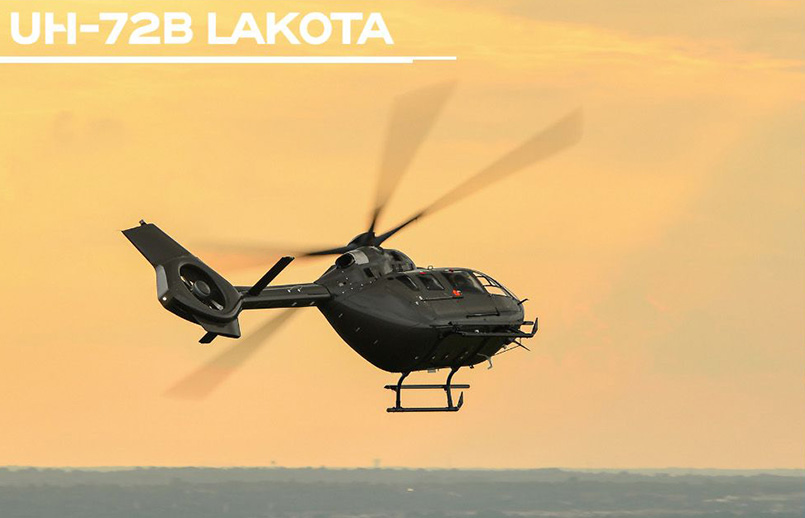 Flota de helicópteros UH-72 Lakota de Airbus Helicopters.