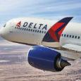 Airbus A350 de Delta Air Lines en vuelo.
