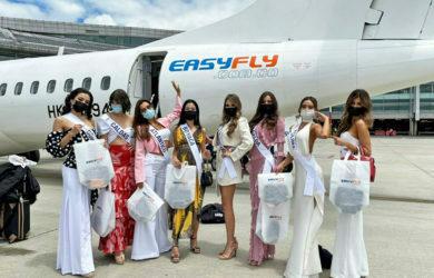 """""""Vuelo de la belleza colombiana"""" de EasyFly y Miss Universe."""