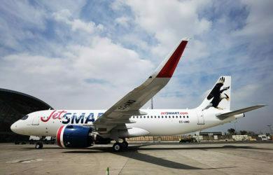 """Airbus A320neo de JetSmart """"Carancho""""."""