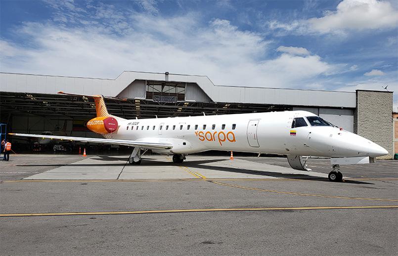 Embraer 145 de Sarpa en Bogotá.