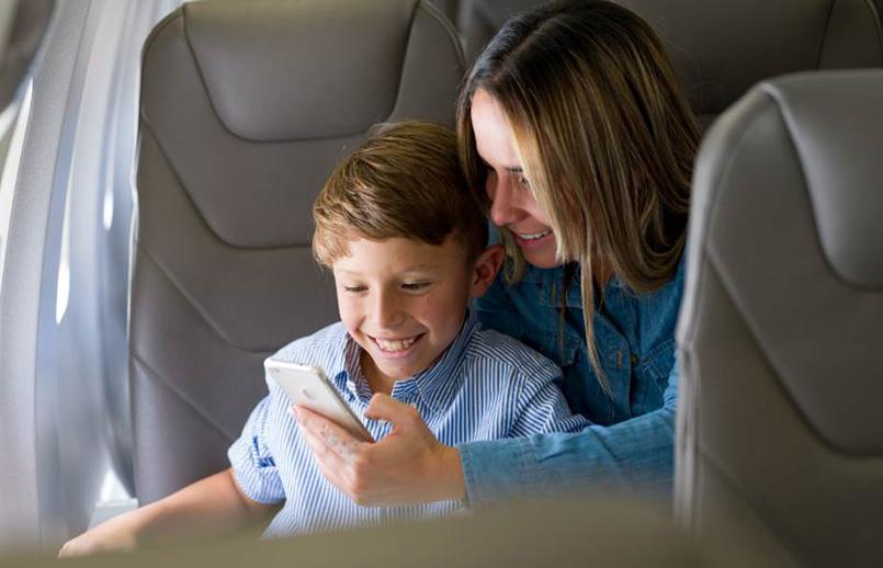 Viaje en avión con niños.
